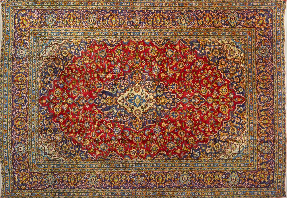 A Persian Hand Knotted Ardakan Carpet, 337 x 235