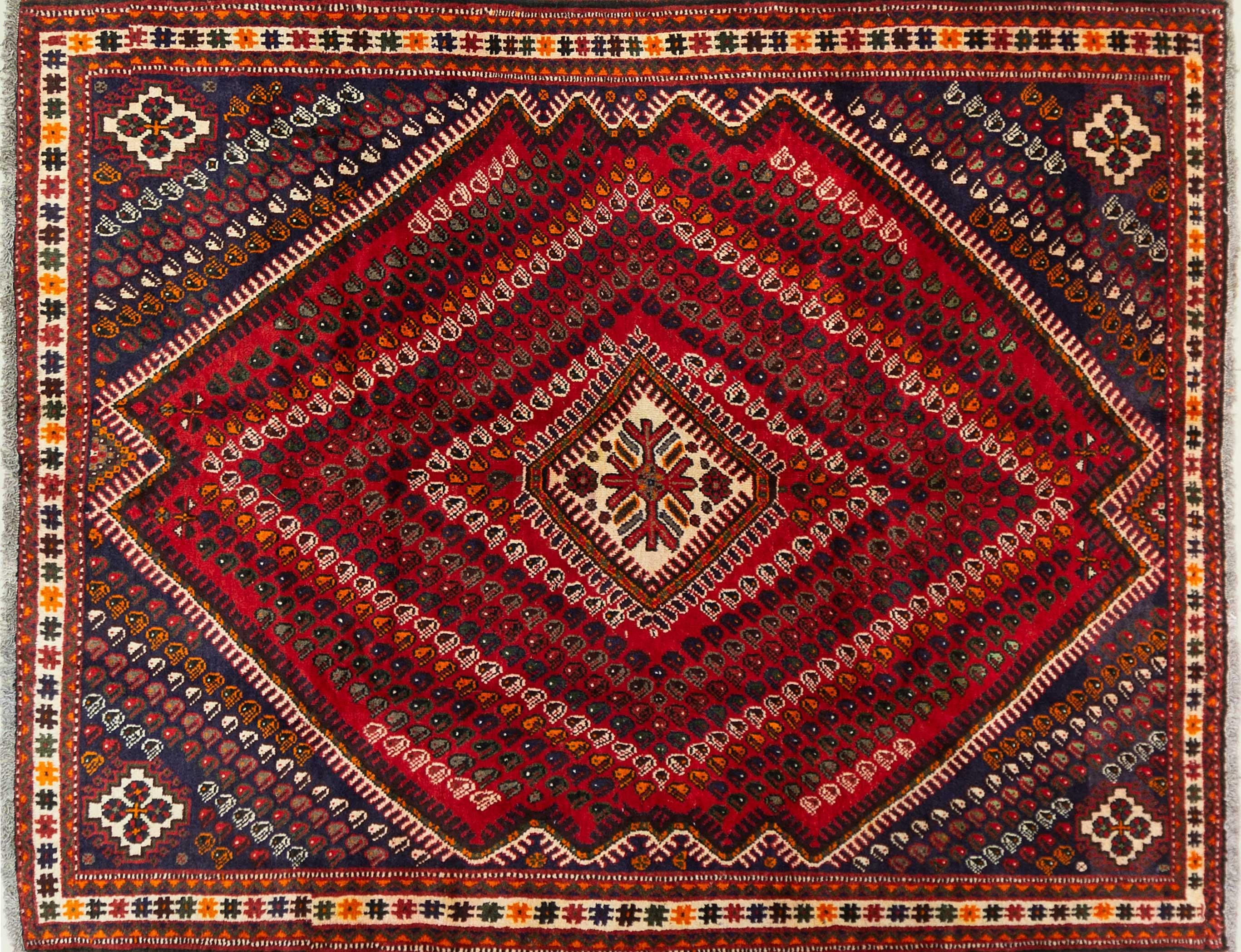 A Persian Hand Knotted Shiraz Carpet, 235 x 190