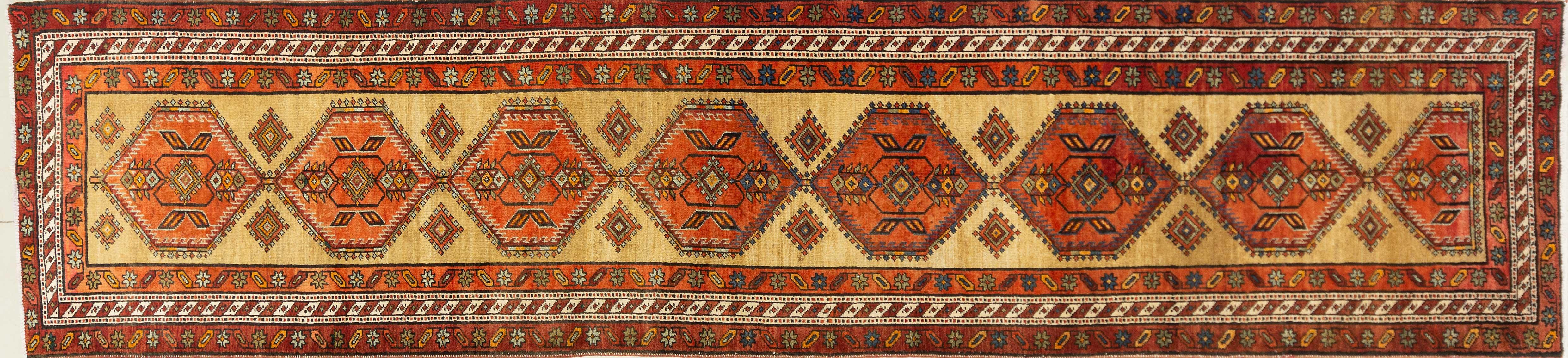 A Persian Hand Knotted Azari Runner, 437 x 103