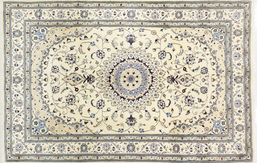 A Persian Hand Knotted Nain Carpet, 307 x 202