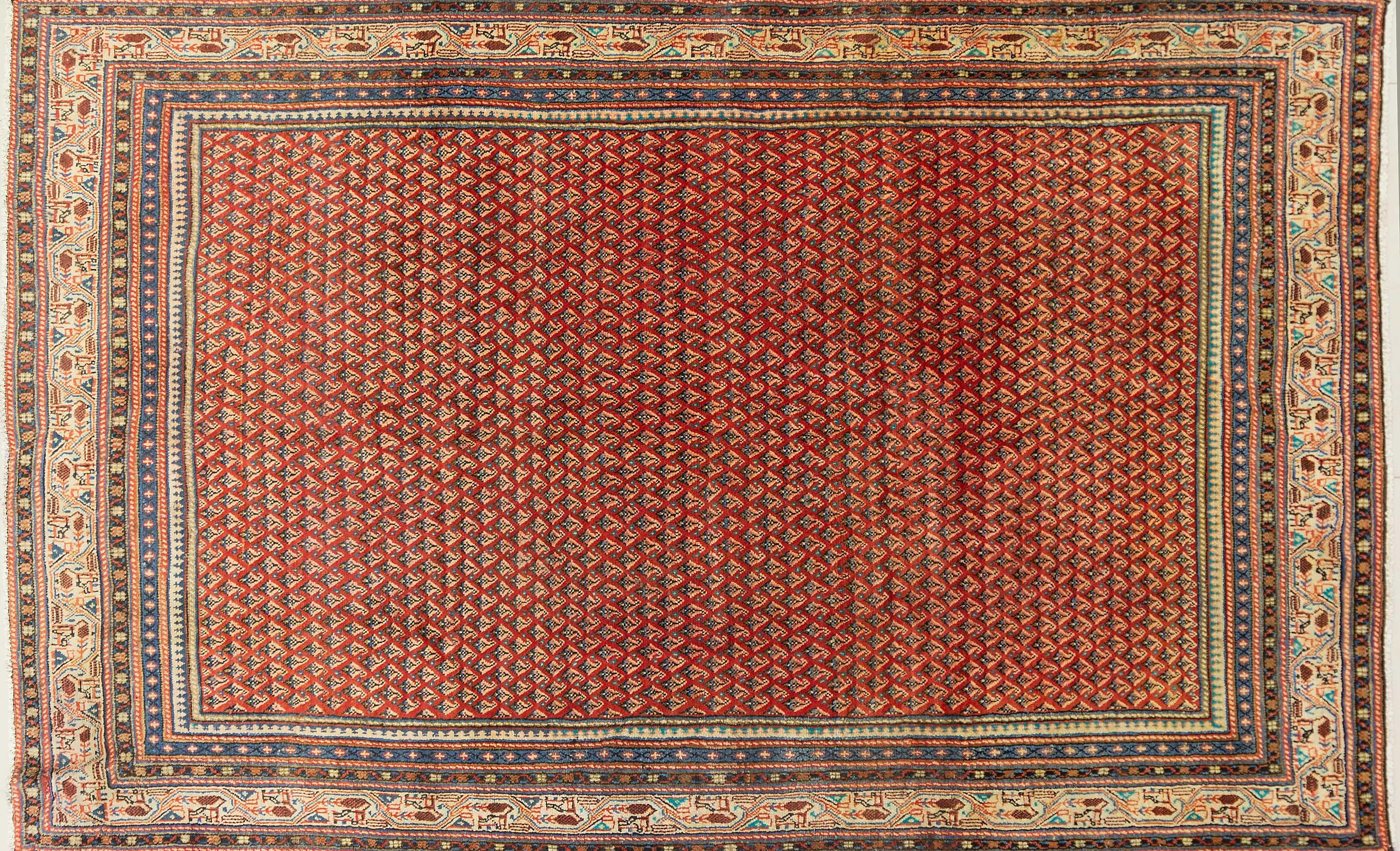 A Persian Hand Knotted Mir Carpet, 290 x 180
