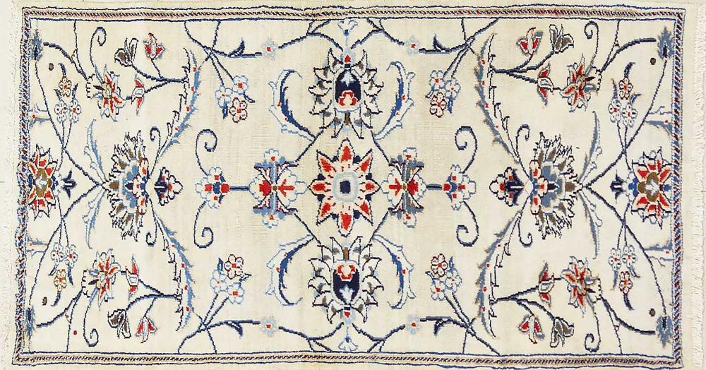 A Persian Hand Knotted Nain Rug, 150 x 80