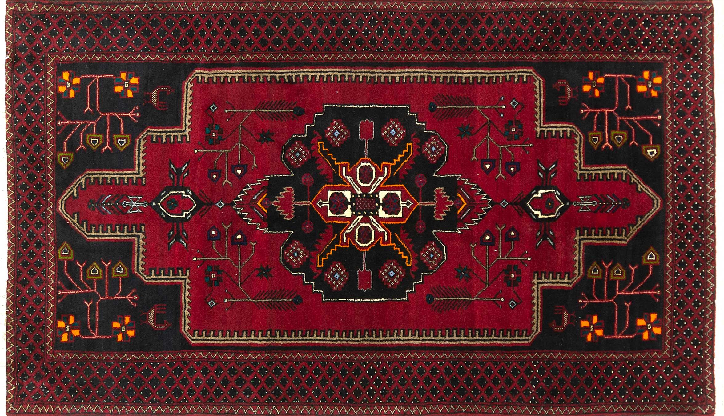 A Persian Hand Knotted Beluchi Rug, 202 x 120