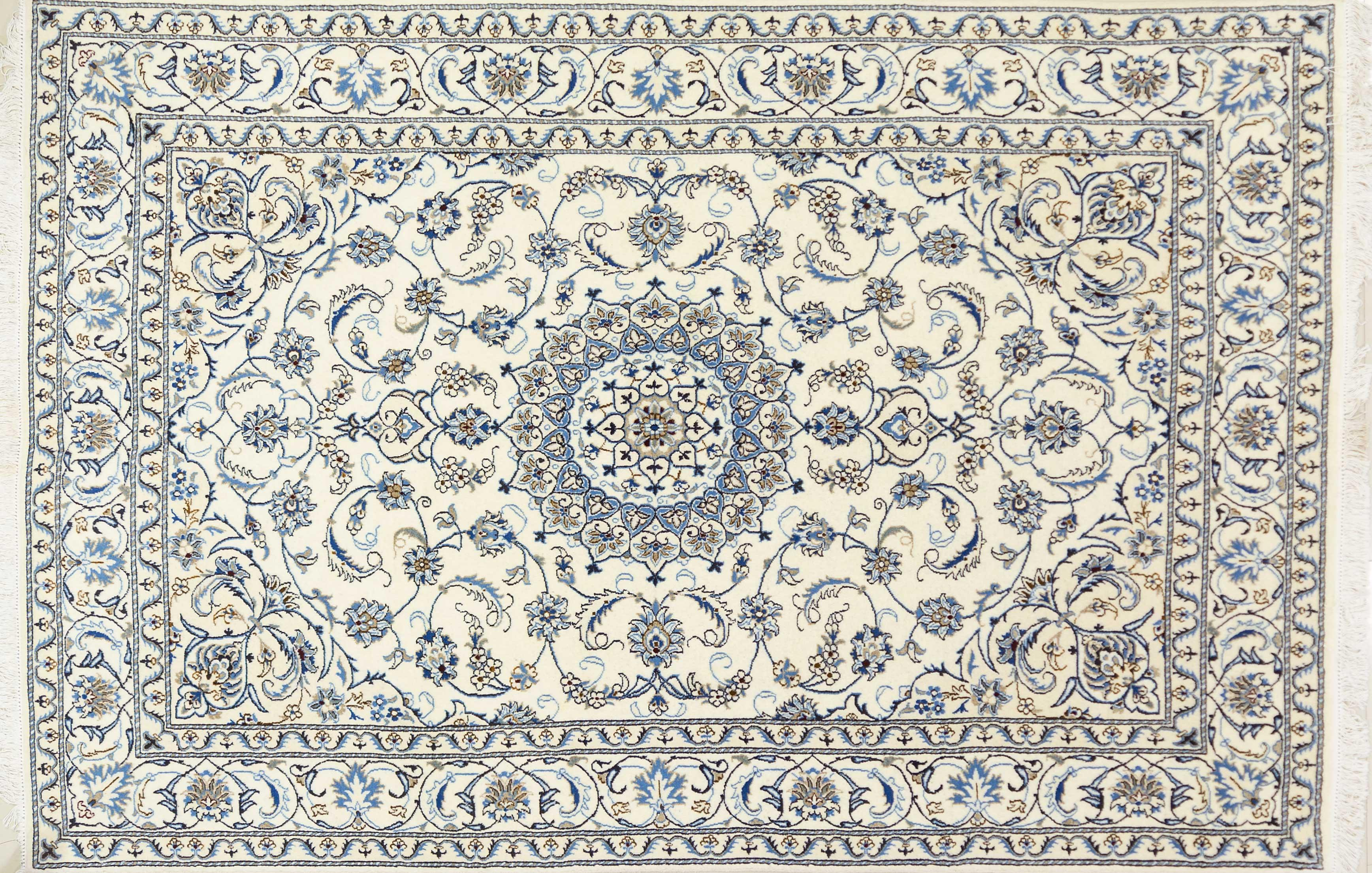 A Persian Hand Knotted Nain Carpet, 290 x 192