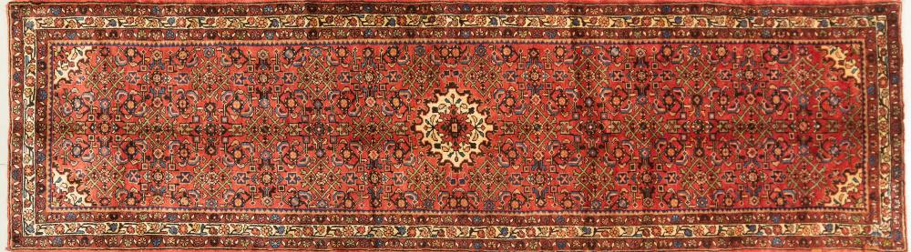 A Persian Hand Knotted Hosseinabad Runner, 384 x 105