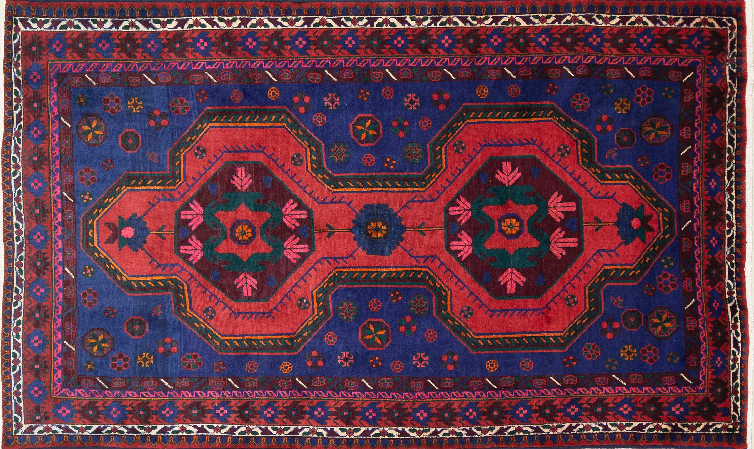 A Persian Hand Knotted Azari Rug, 245 x 144