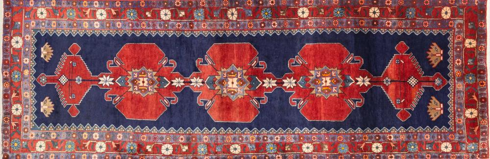 A Persian Hand Knotted Ardebil Runner, 322 x 105