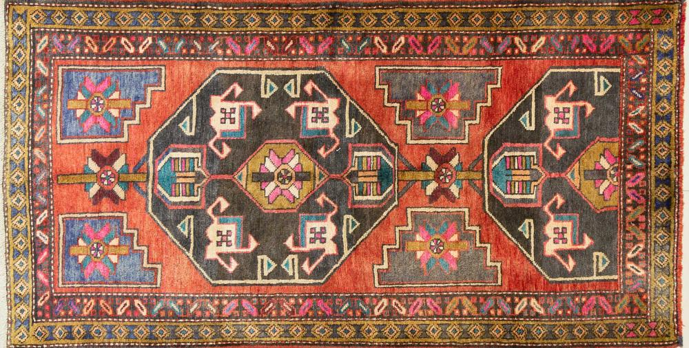 A Persian Hand Knotted Lori Rug, 220 x 115