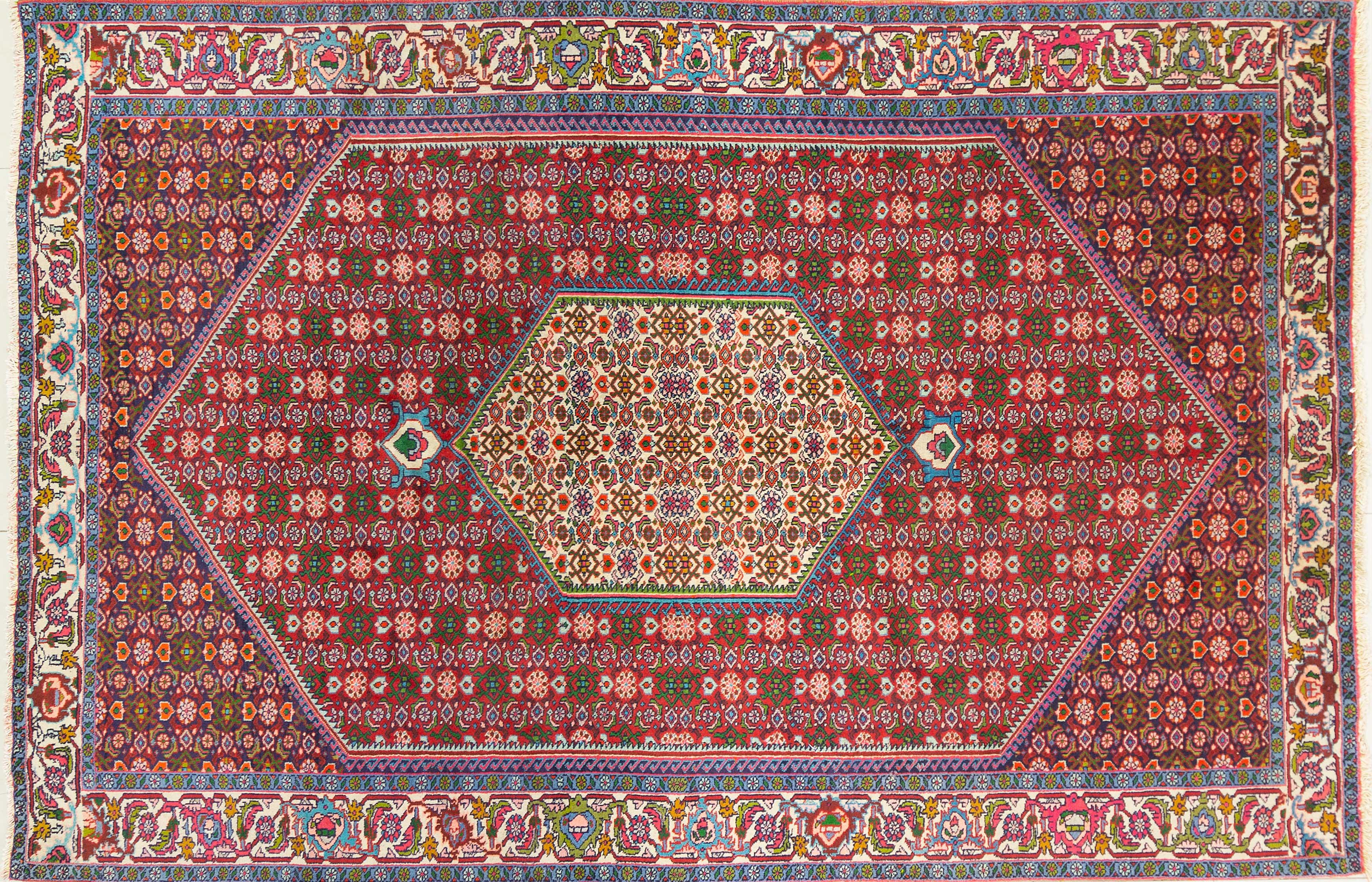 A Persian Hand Knotted Goltag Carpet, 295 x 198