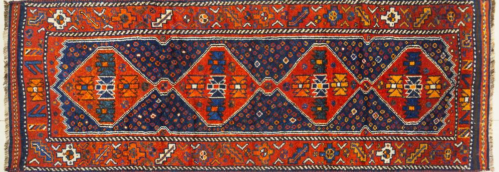 A Persian Hand Knotted Lori Runner, 275 x 105