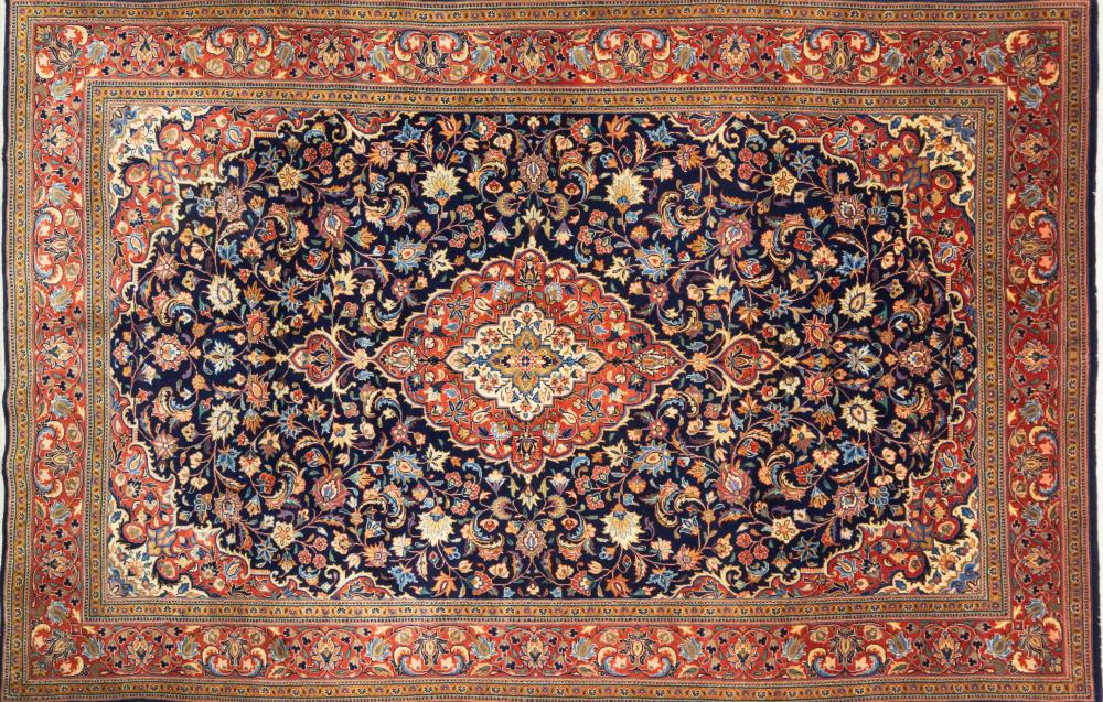 A Persian Hand Knotted Qum Carpet, 305 x 195