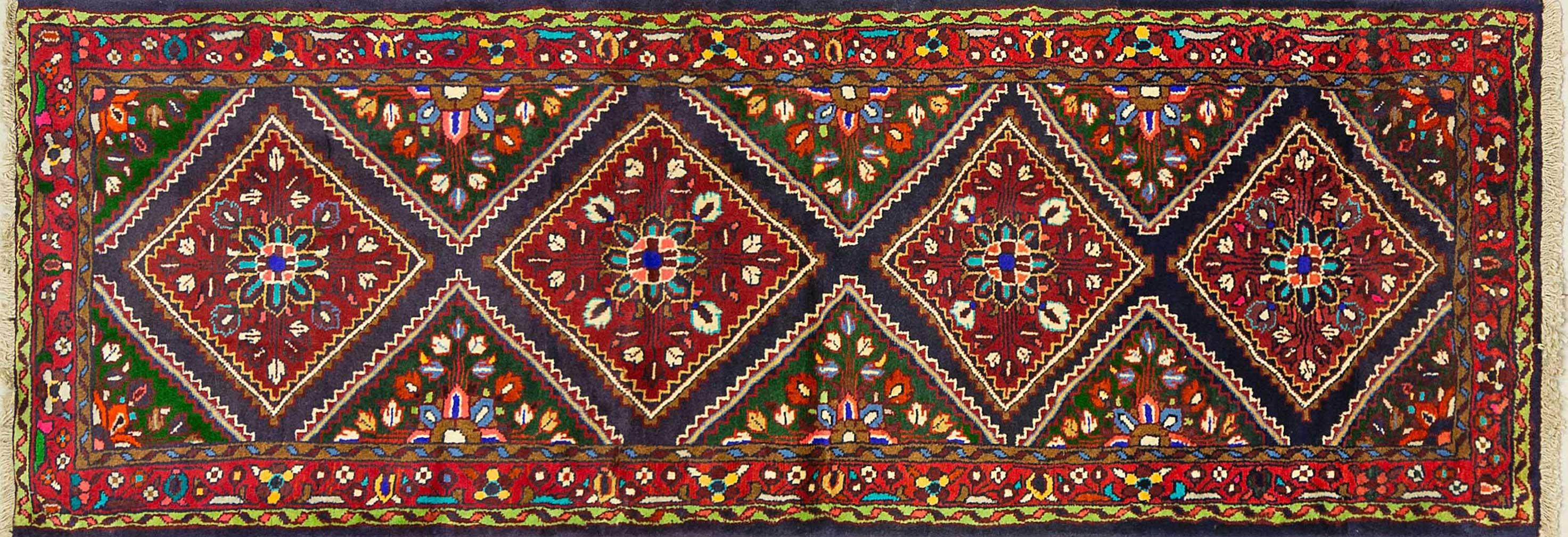 A Persian Hand Knotted Nahavand Runner, 220 x 78