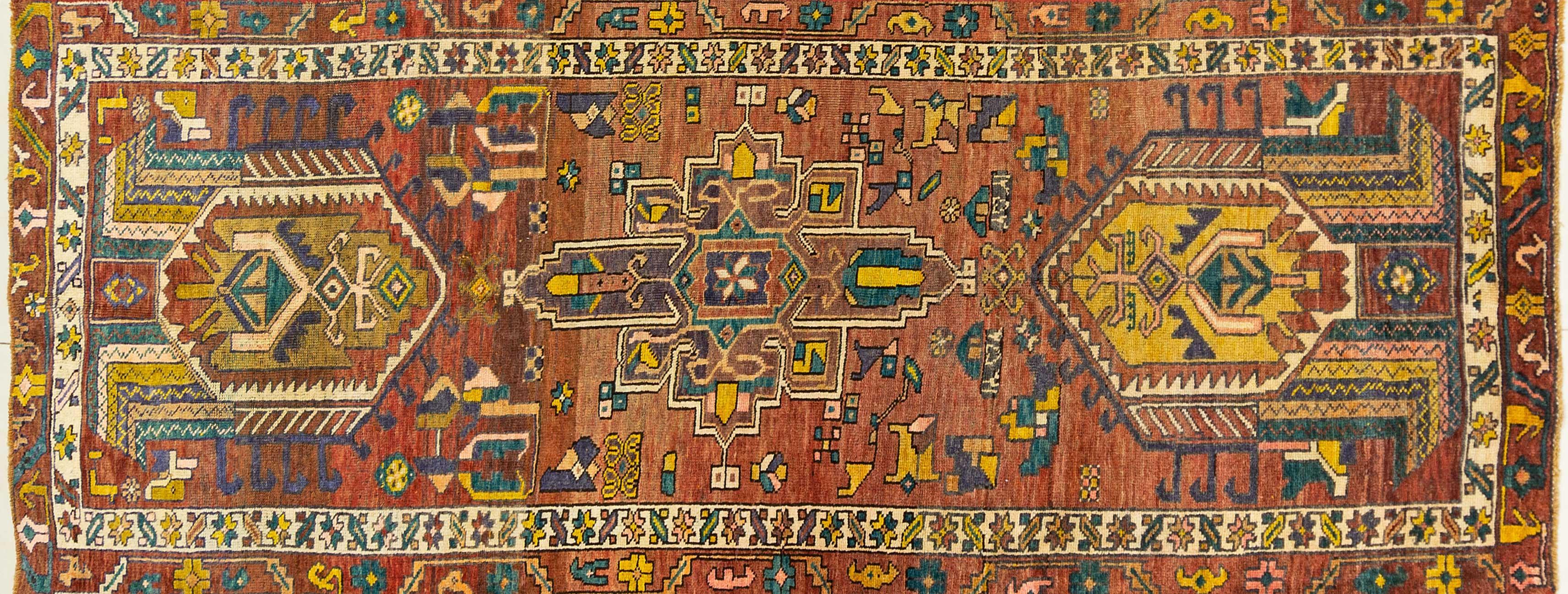 A Persian Hand Knotted Azari Runner, 300 x 115
