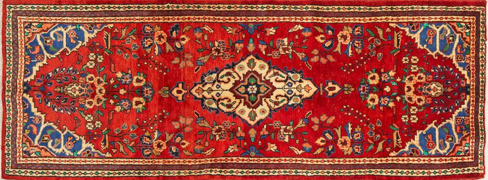 A Persian Hand Knotted Hamadan Runner, 313 x 116