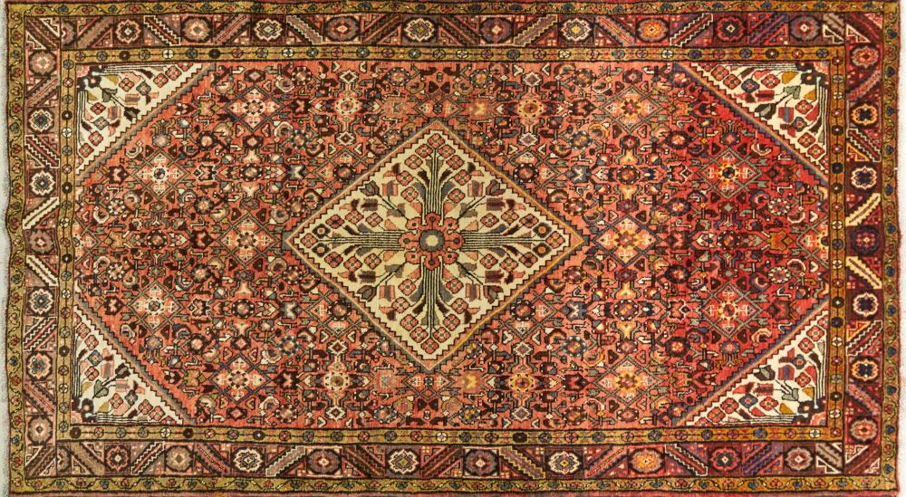 A Persian Hand Knotted Hamadan Carpet, 288 x 167