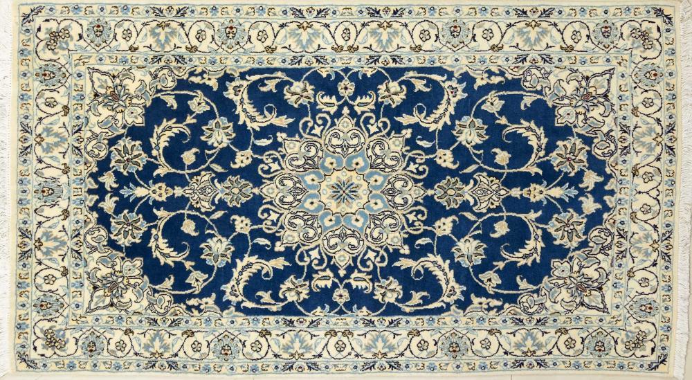 A Persian Hand Knotted Nain Rug, 210 x 114