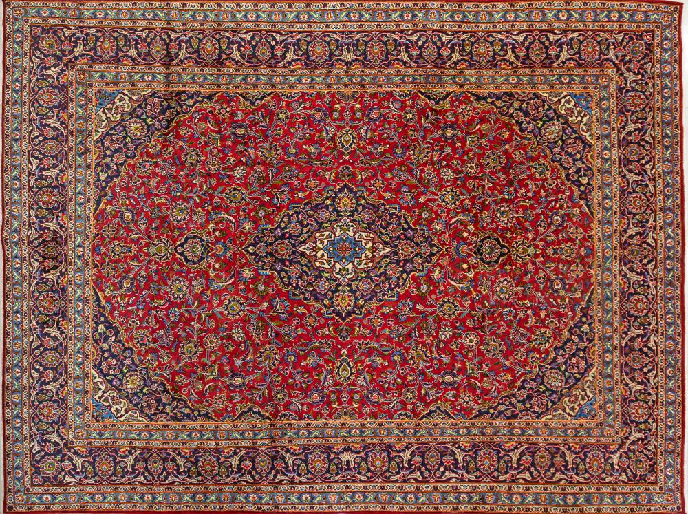 A Persian Hand Knotted Mashad Carpet, 394 x 294