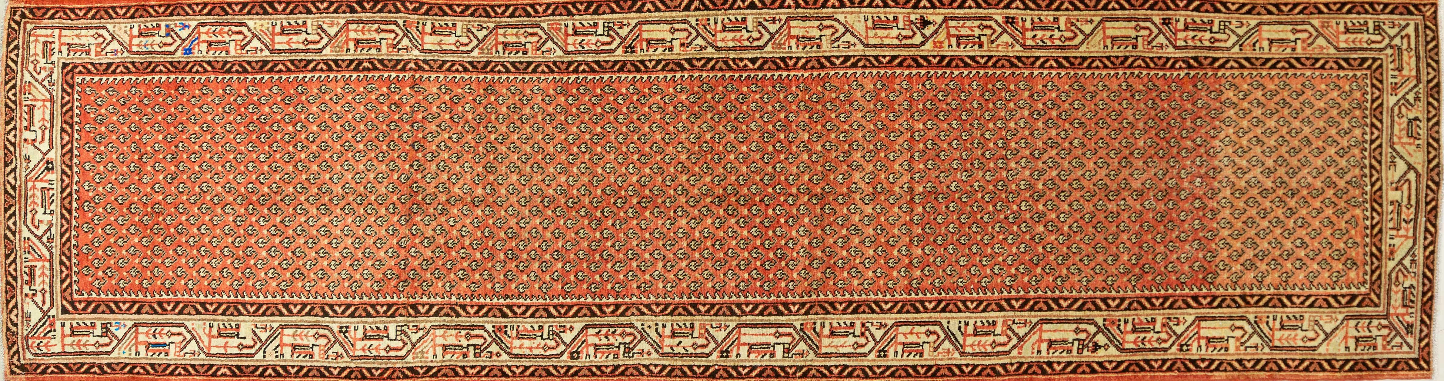 A Persian Hand Knotted Mir Runner, 417 x 105