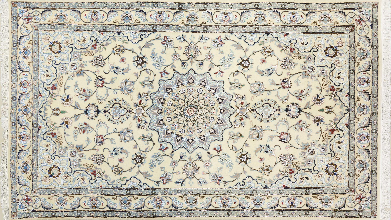 A Persian Hand Knotted Nain Rug, 257 x 152