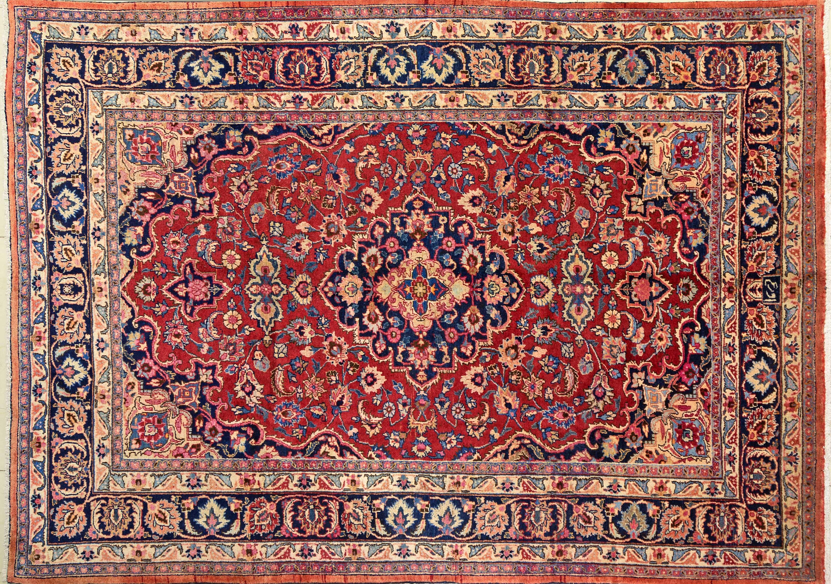 A Persian Hand Knotted Mashad Carpet, 280 x 200