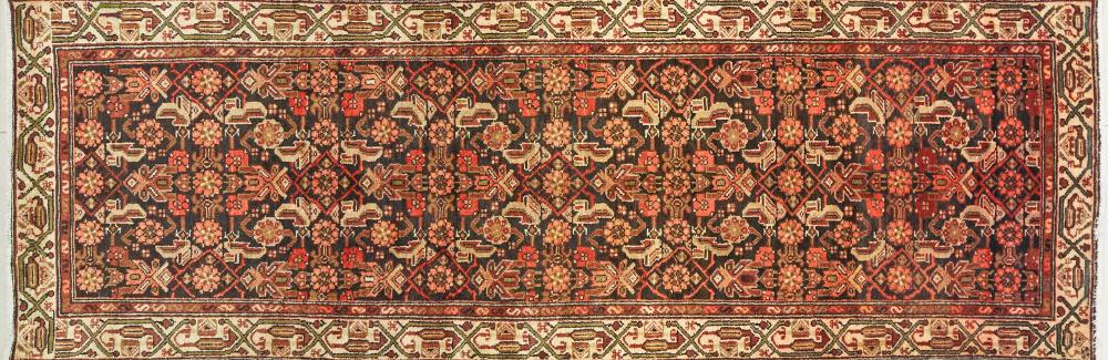 A Persian Hand Knotted Hamadan Runner, 300 x 100