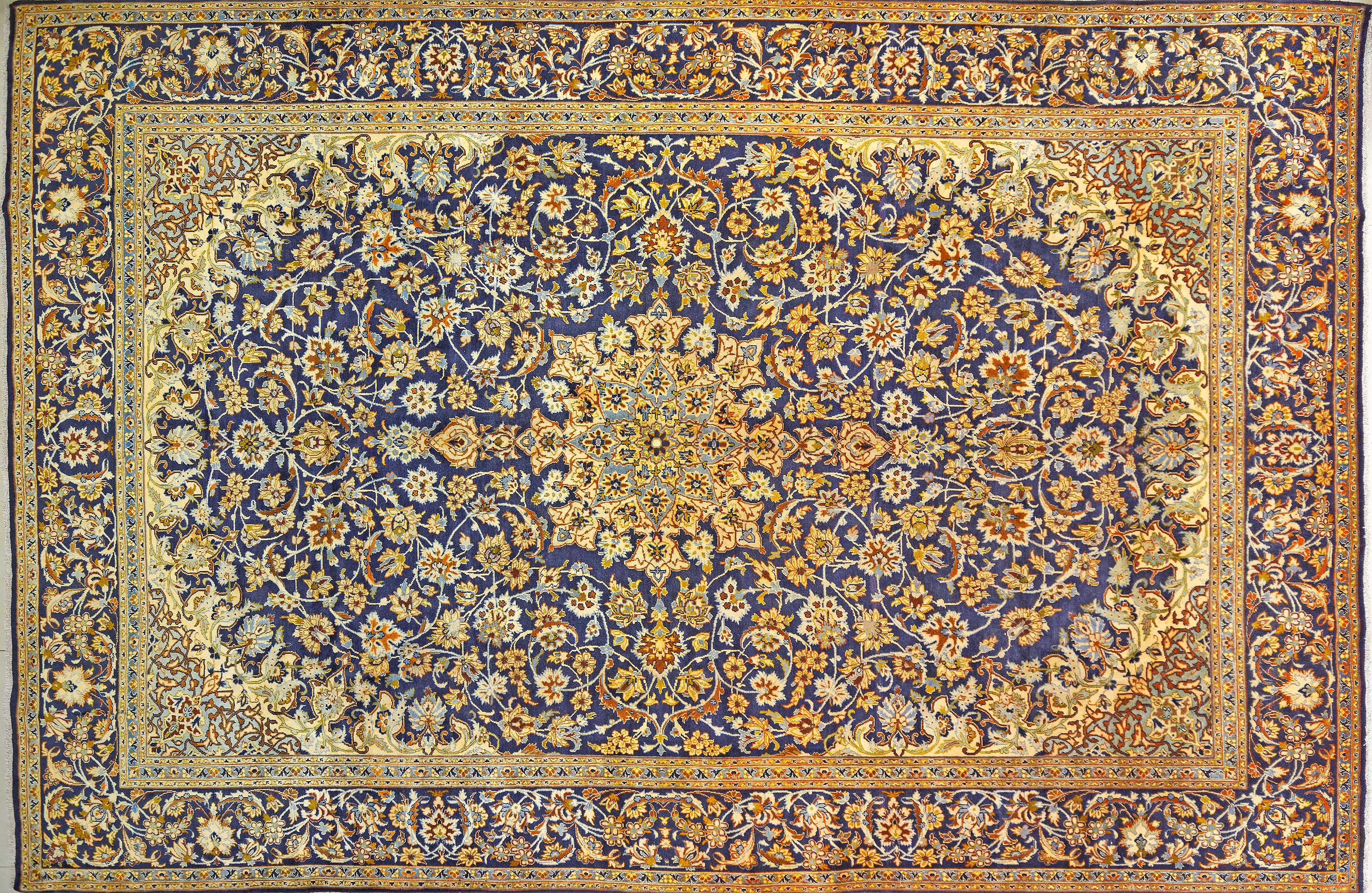 A Persian Hand Knotted Kashan Carpet, 492 x 331