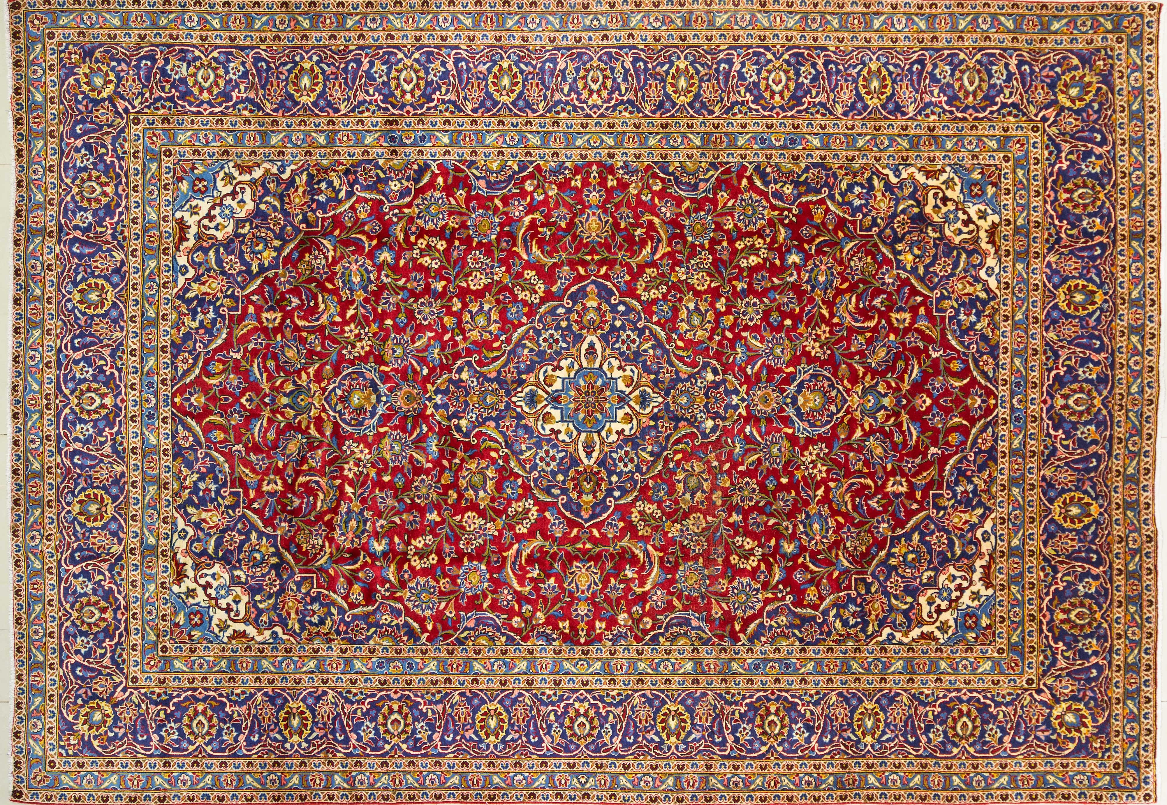 A Persian Hand Knotted Ardakan Carpet, 348 x 244