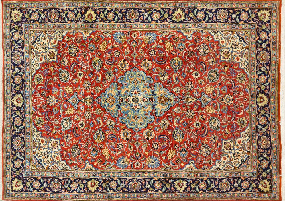 A Persian Hand Knotted Qum Carpet, 272 x 198