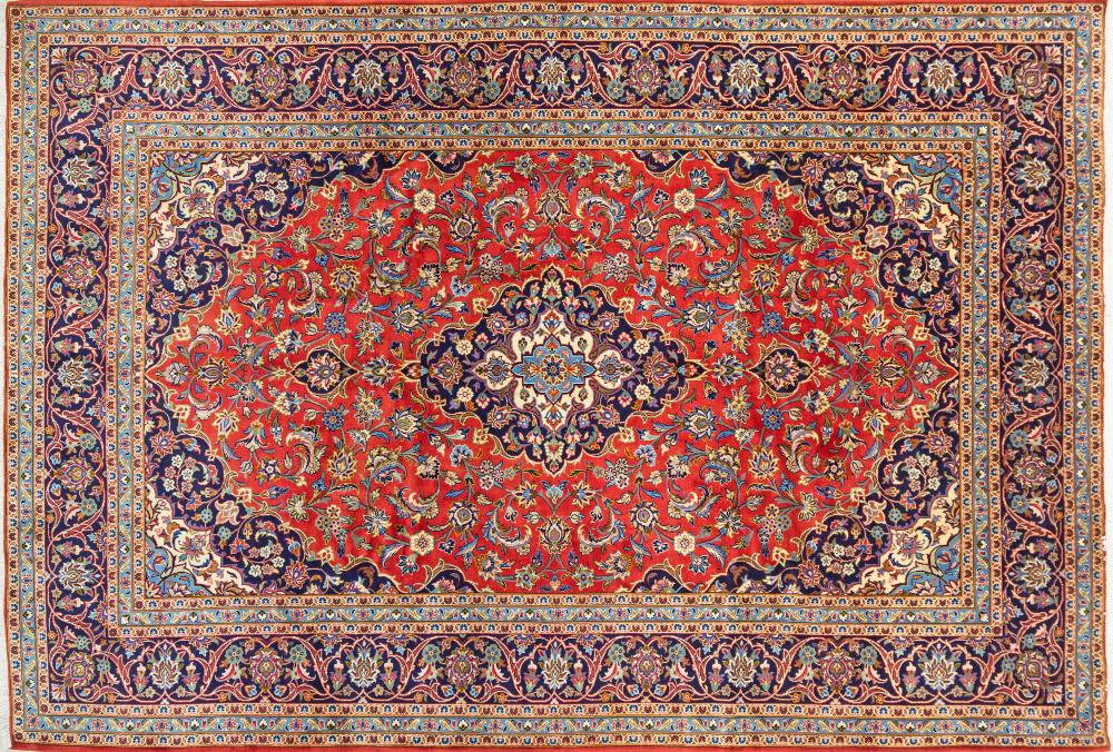 A Persian Hand Knotted Kashan Carpet, 360 x 248
