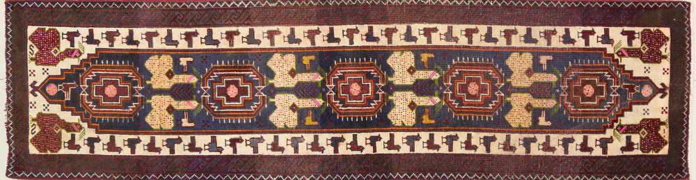 A Persian Hand Knotted Beluchi Runner, 230 x 60