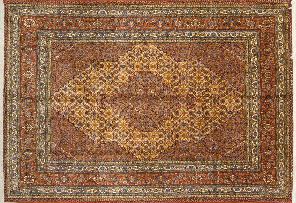 A Persian Hand Knotted Ardebil Carpet, 314 x 220