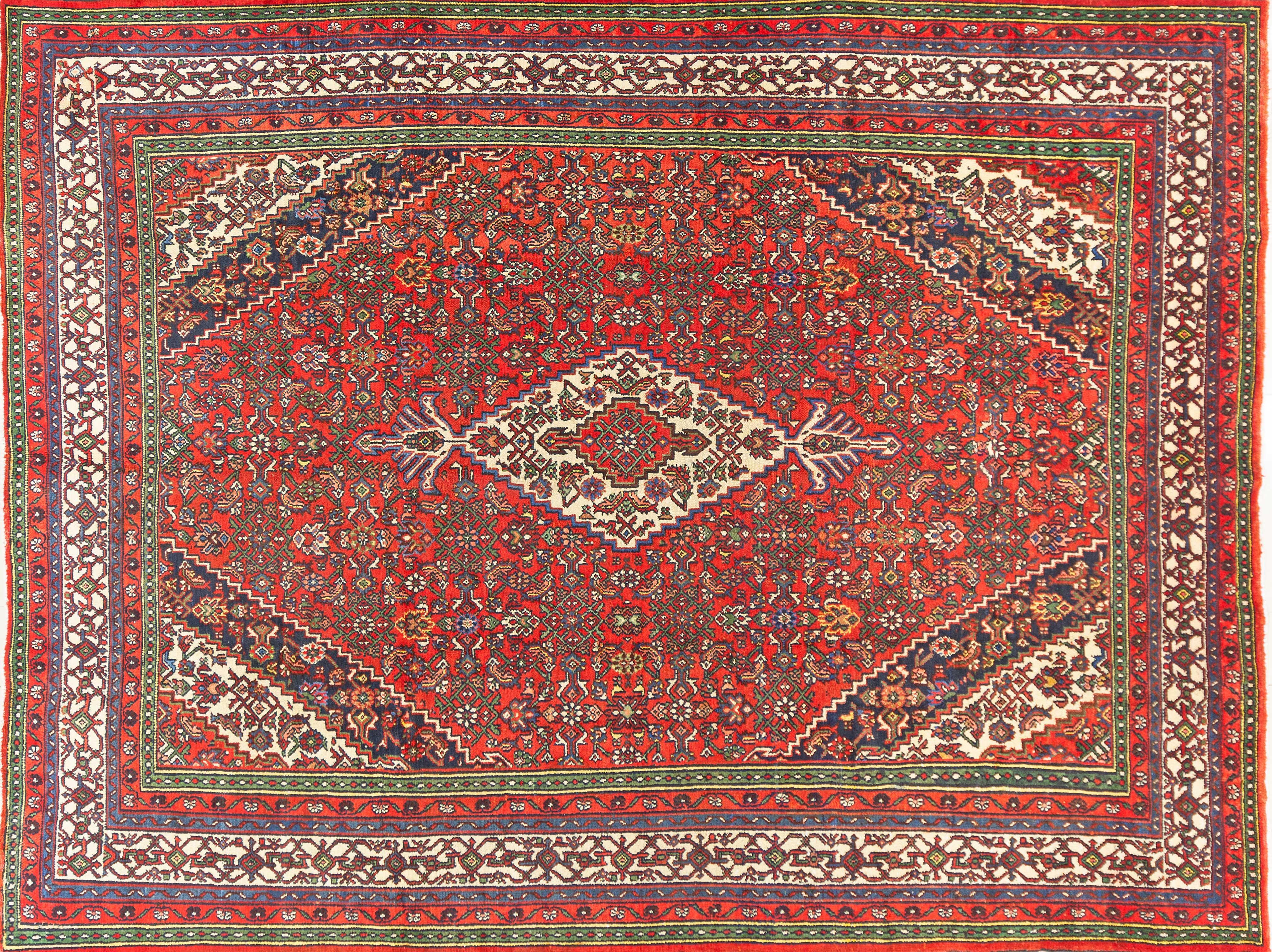 A Persian Hand Knotted Toiserkan Carpet, 356 x 268