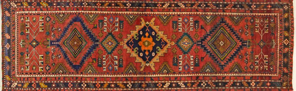 A Persian Hand Knotted Azari Runner, 327 x 101