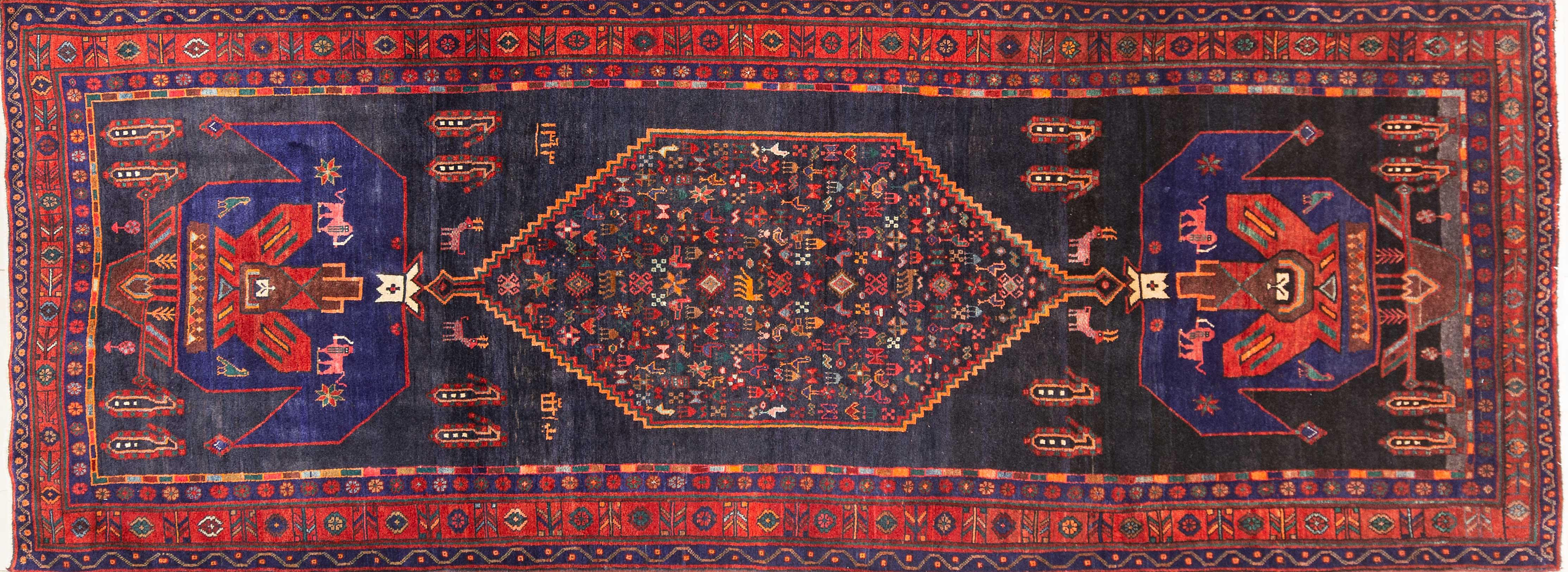 A Persian Hand Knotted Senghor Runner, 404 x 155