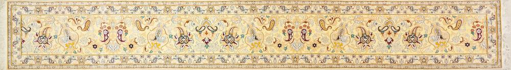 A Persian Hand Knotted Nain Runner, 600 x 85