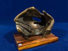 "Danie de Jager (SA 1936 - 2003) Bronze, ""Mother & Child"", 26cm including base"