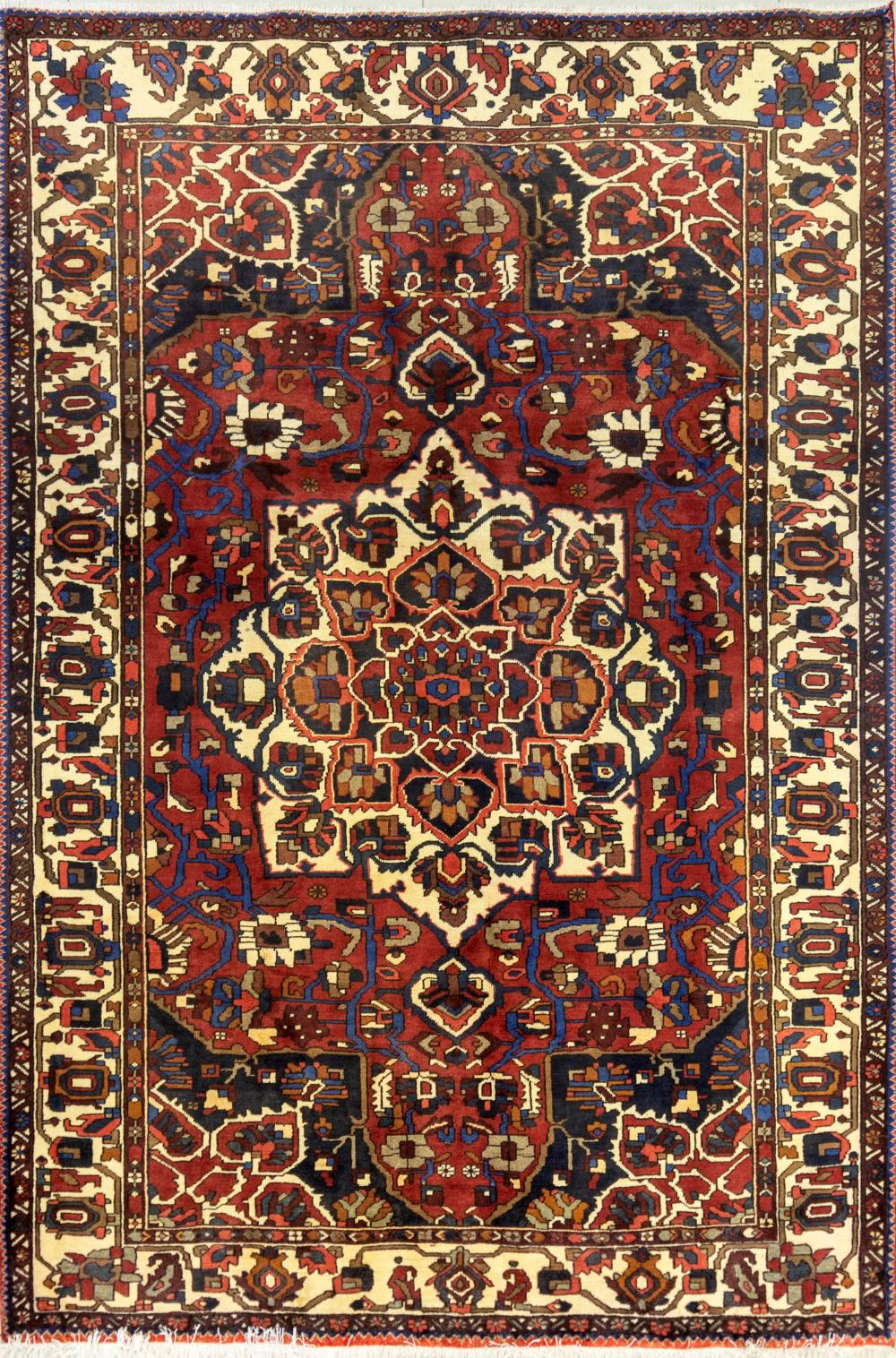 Lot - A Persian Hand Knotted Bakhtiari Carpet, 301 X 201