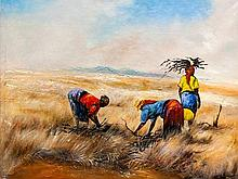Berthold Moyo (Zimbabwean, born 1974) Oil,