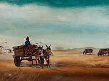 Berthold Moyo (Zimbabwean, born 1974) Oil, Donkey