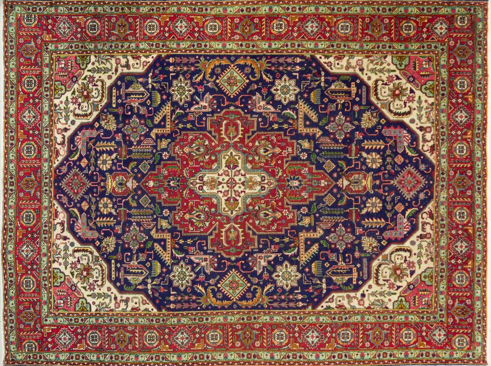 A Persian Hand Knotted Tabriz Carpet, 352 X 267