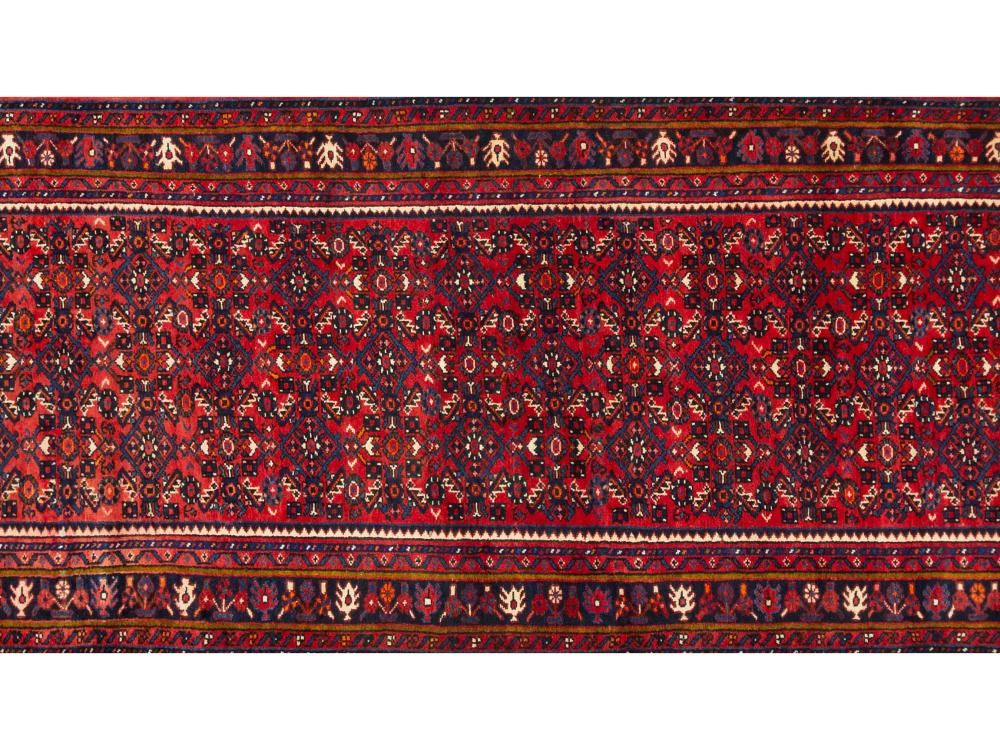 A Persian Hand Knotted Hosseinabad Runner, 411 X 108