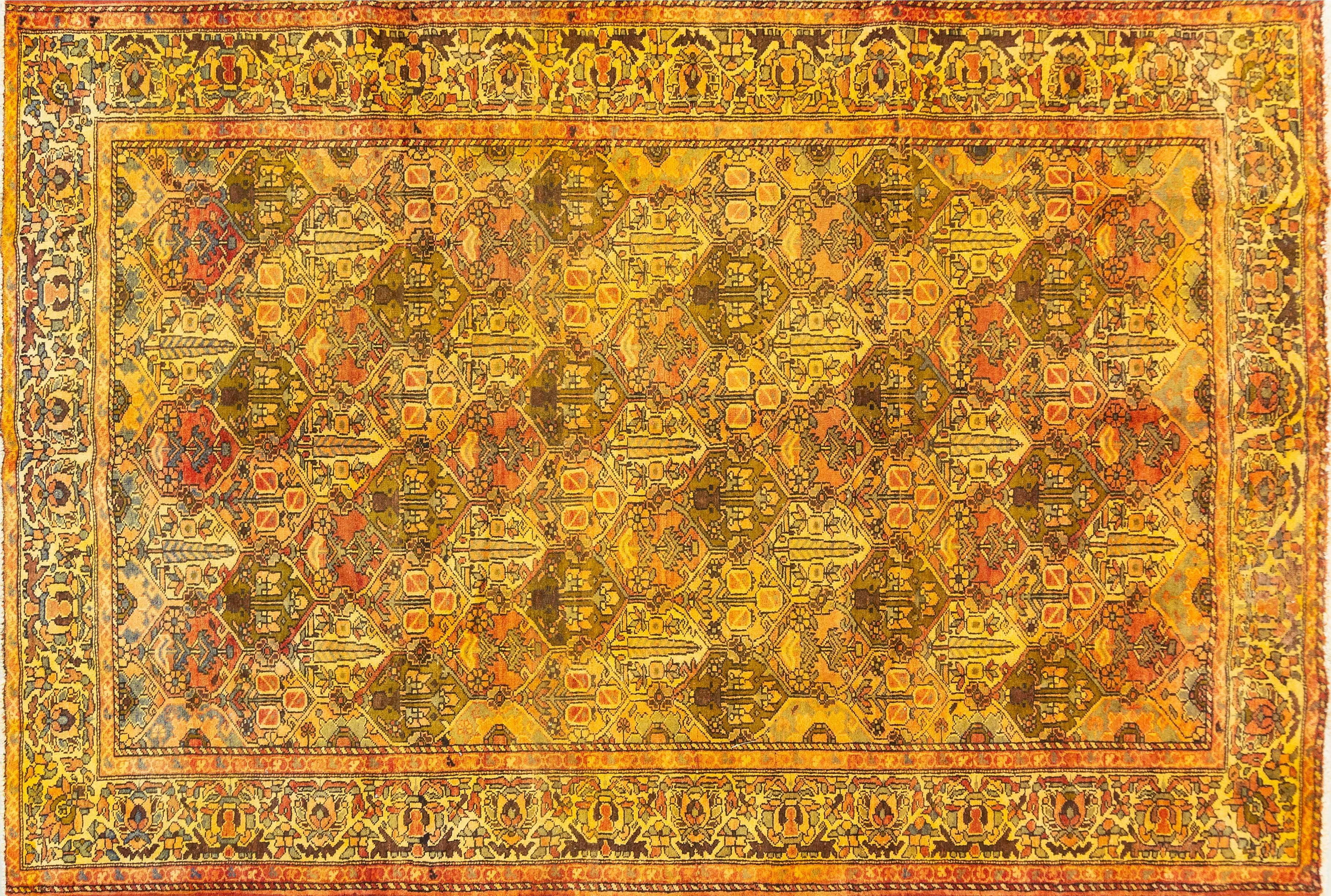 A Persian Hand Knotted Bakhtiari Carpet, 330 X 215