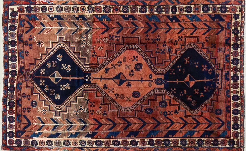 A Persian Hand Knotted Lori Rug, 220 X 136