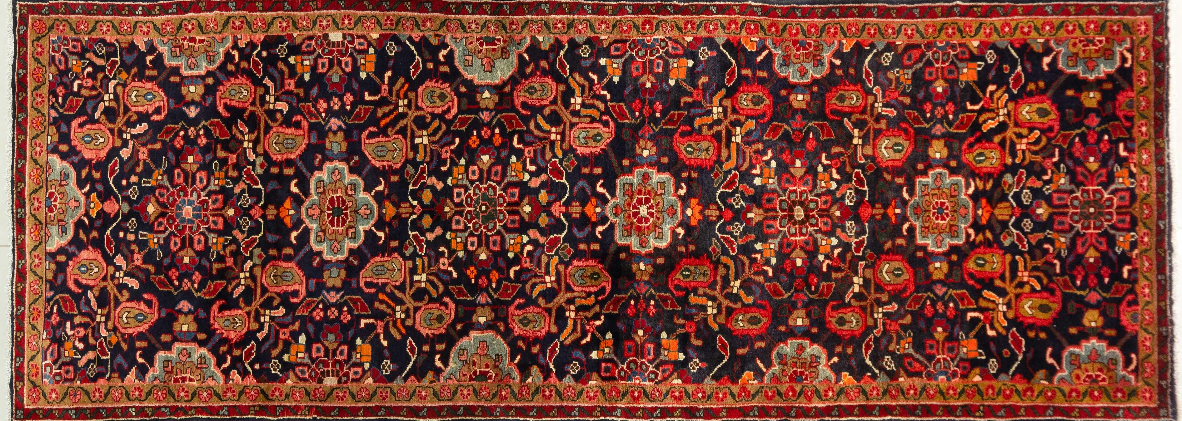 A Persian Hand Knotted Hamadan Runner, 325 X 118