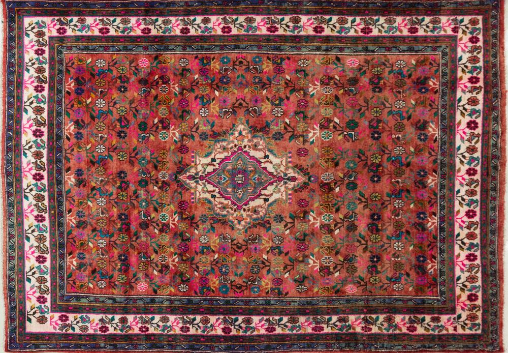 A Persian Hand Knotted Hamadan Carpet, 297 X 204