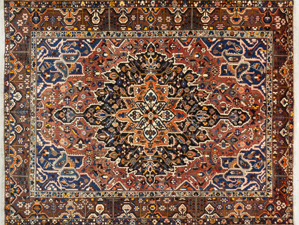 A Persian Hand Knotted Bakhtiari Carpet, 397 X 312
