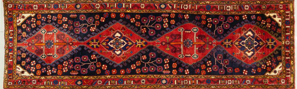 A Persian Hand Knotted Azari Runner, 330 X 105