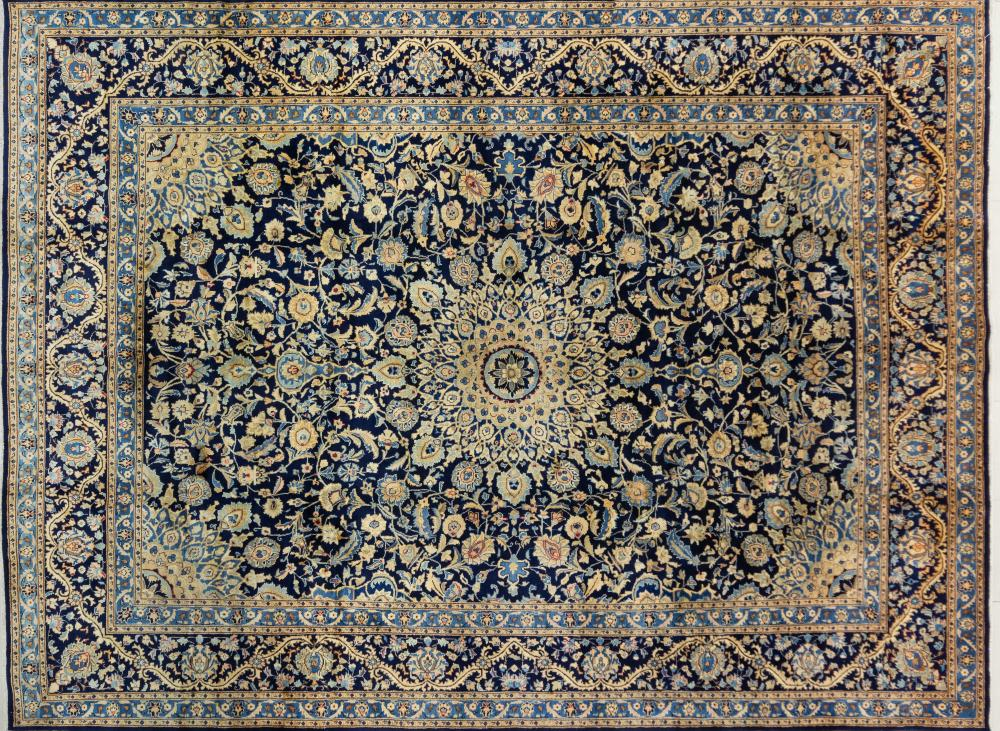 A Persian Hand Knotted Kashan Carpet, 397 X 295