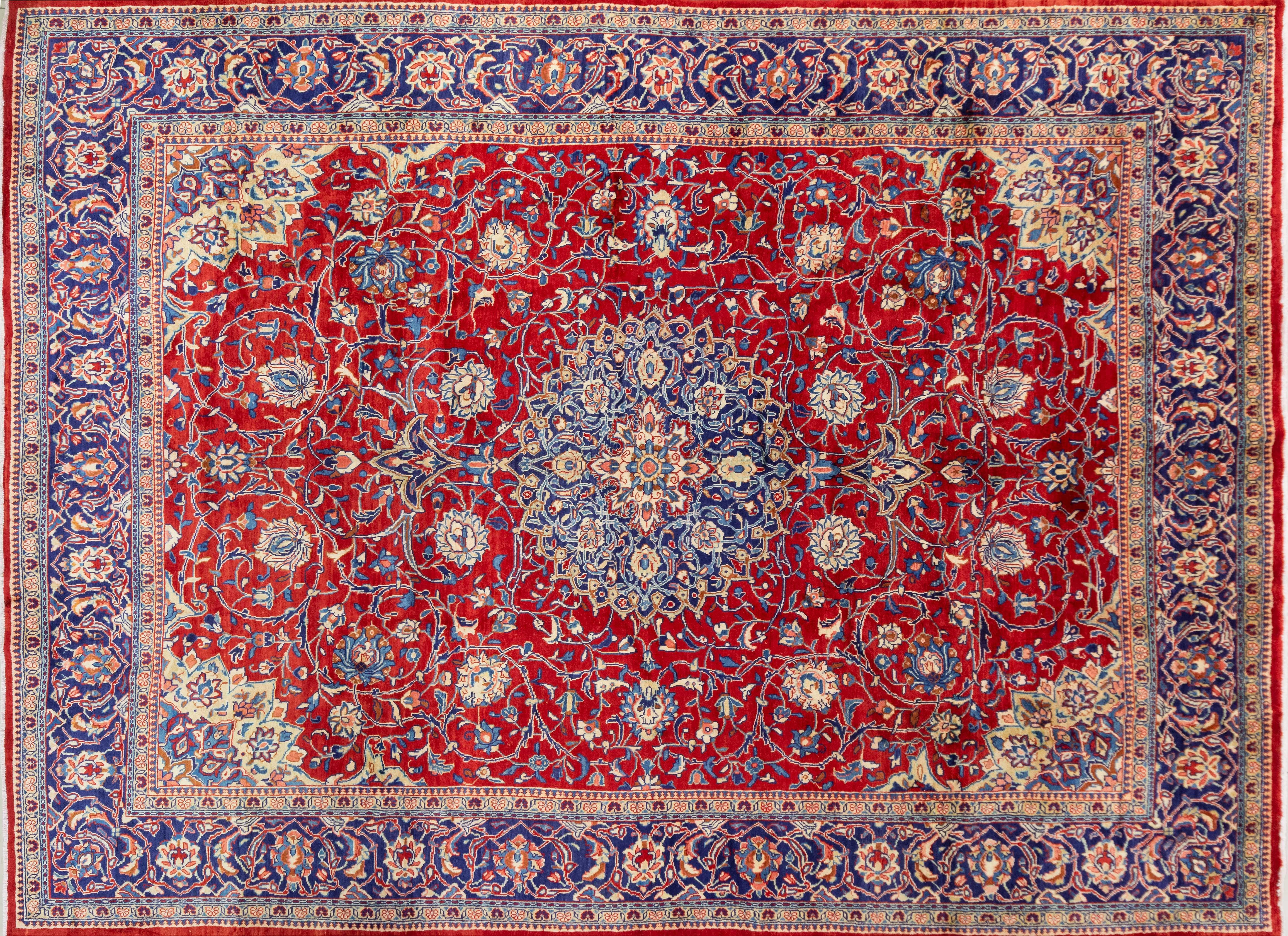 A Persian Hand Knotted Sarough Carpet, 392 X 292