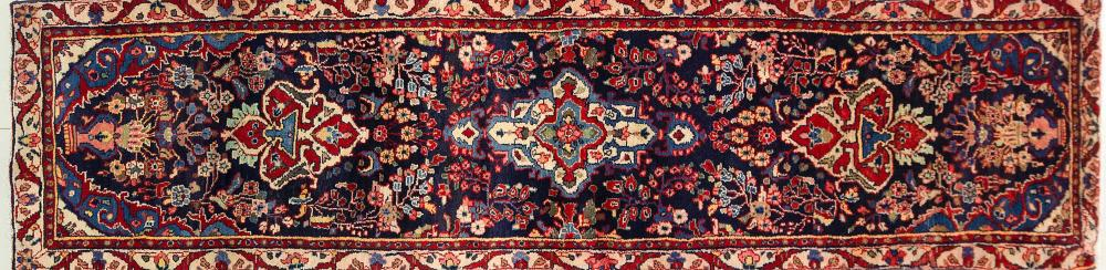 A Persian Hand Knotted Hamadan Runner, 305 X 75